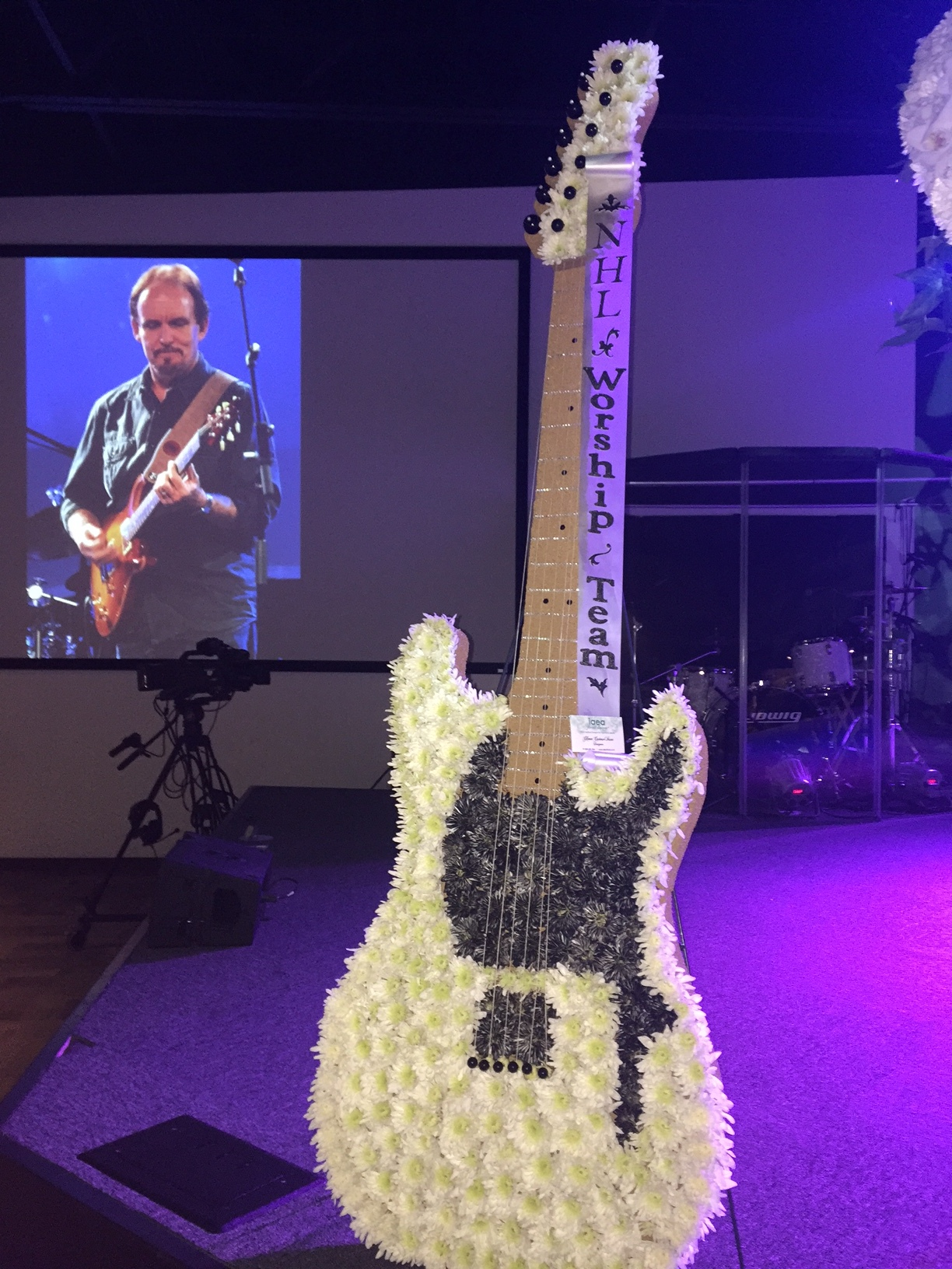 Amazing floral guitar - www.stampedwithaloha.com