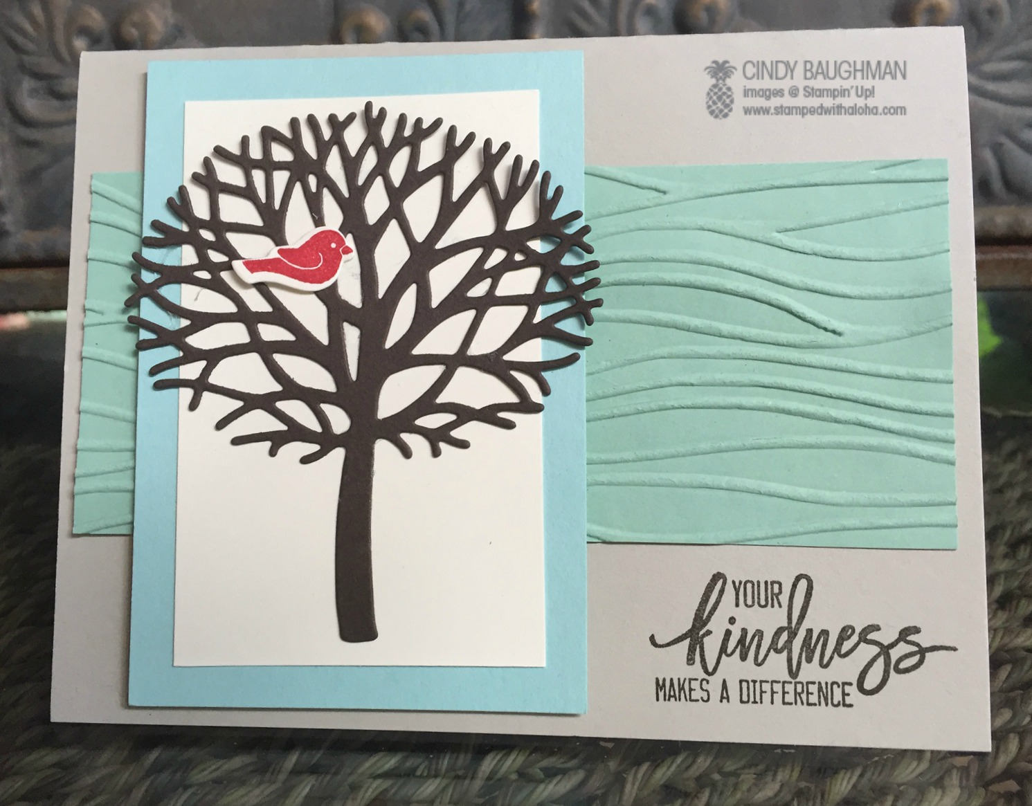 Thoughtful Branches Kindness Card - www.stampedwithaloha.com