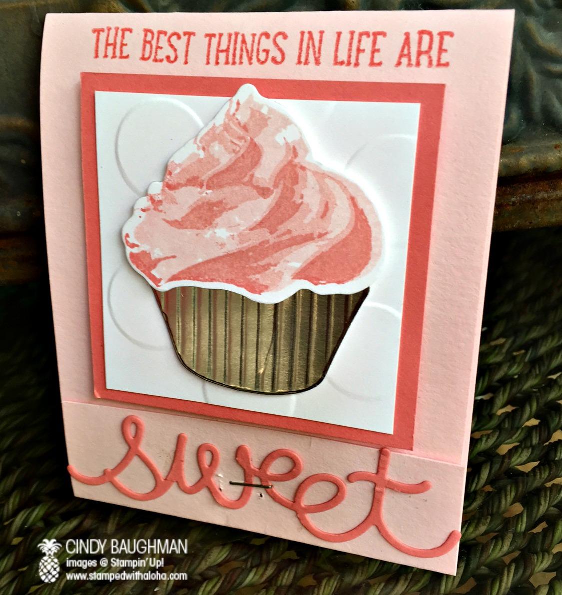 Sweet Cupcake Favor - www.stampedwithaloha.com