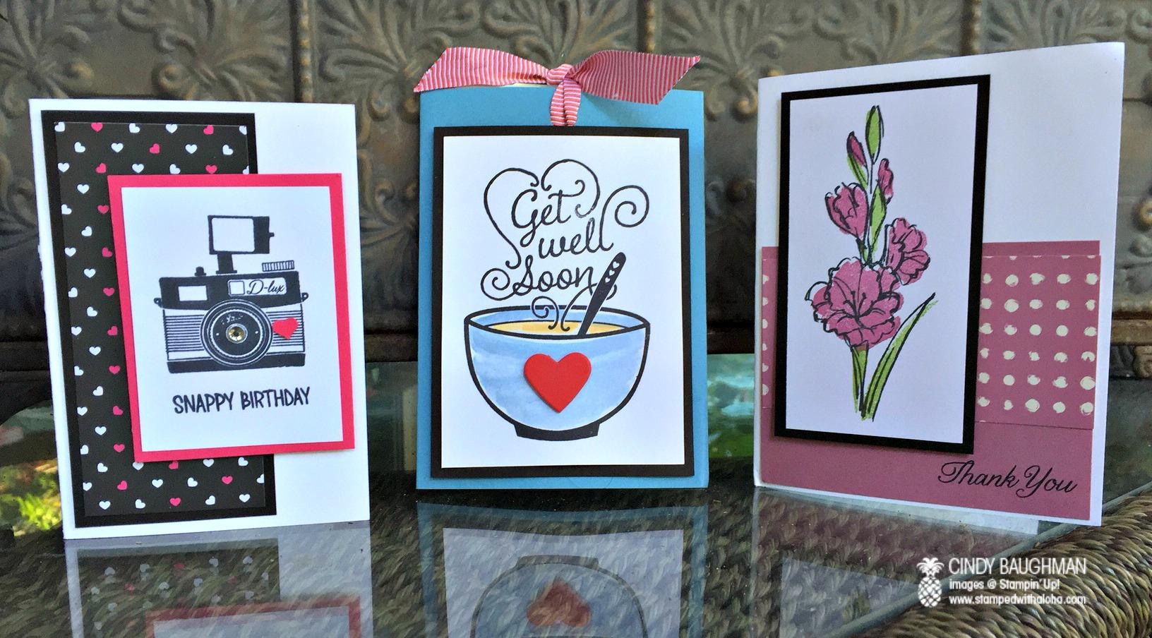 Wednesdays Card Class - www.stampedwithaloha.com