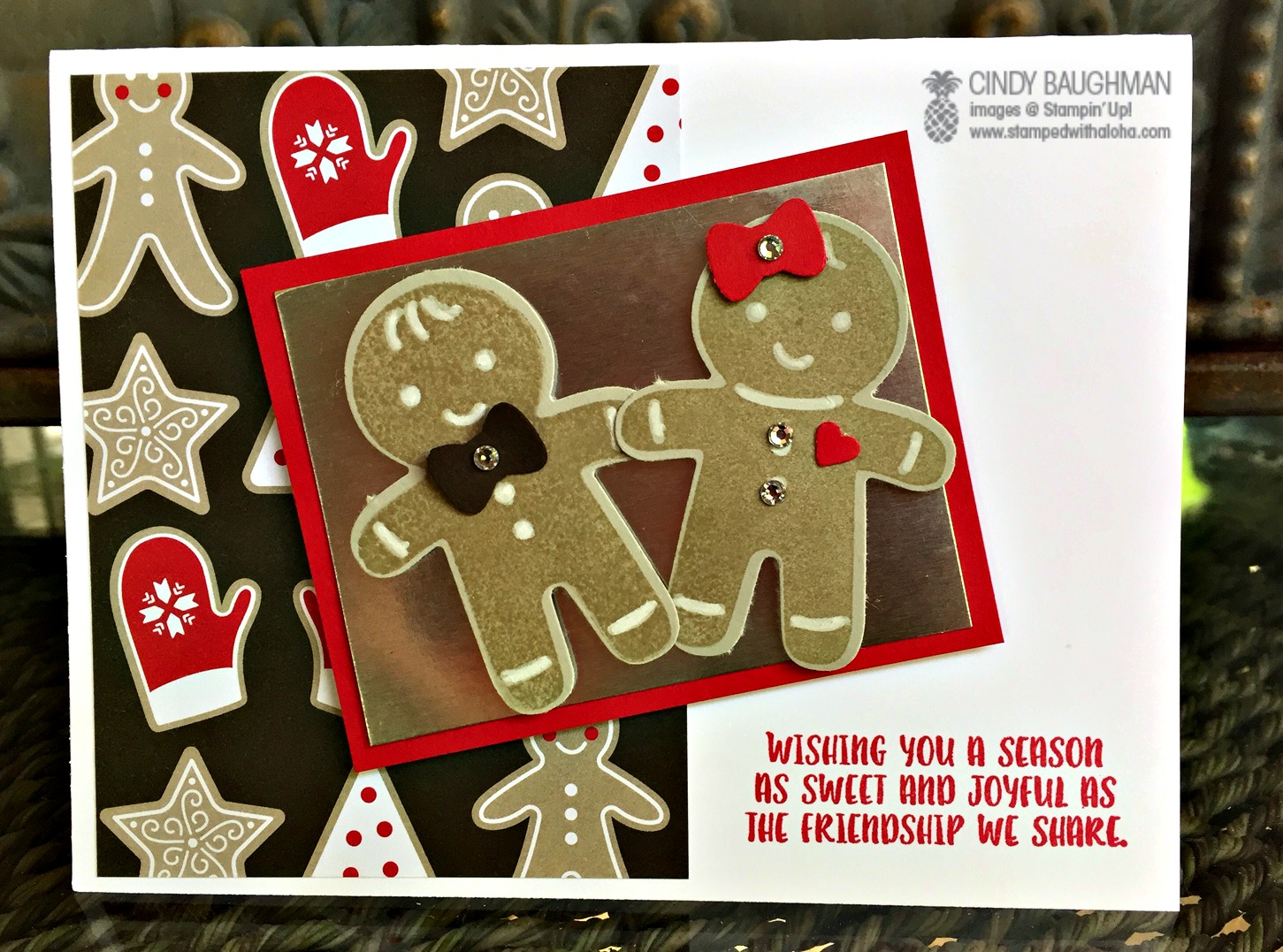 Cookie Cutter Christmas Card - www.stampedwithaloha.com