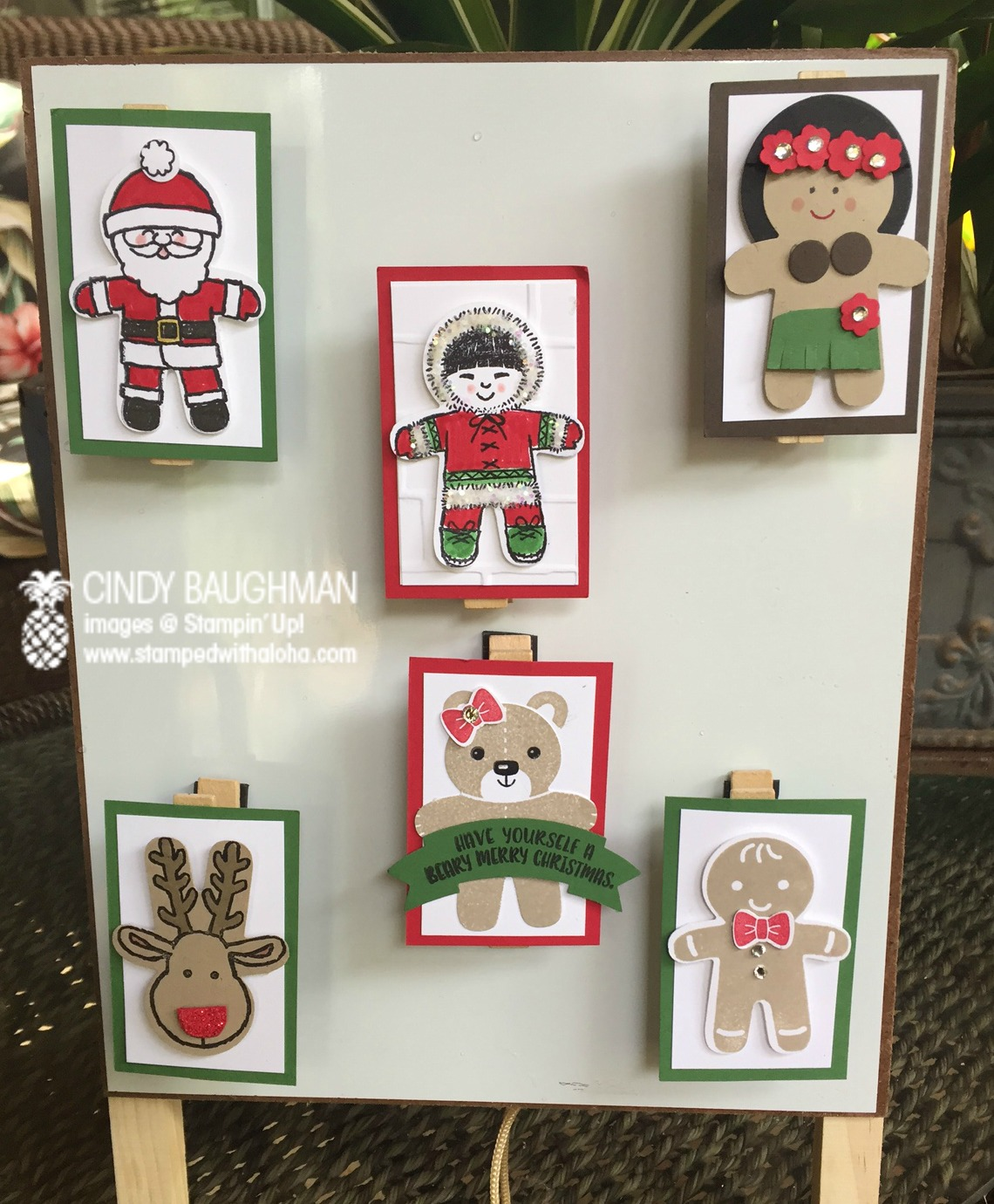 Cookie Cutter Christmas Clips - www.stampedwithaloha.com