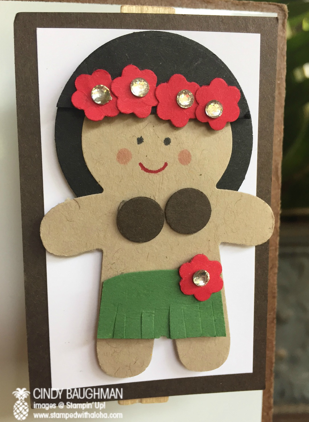 Cookie Cutter Christmas Hula Girl - www.stampedwithaloha.com
