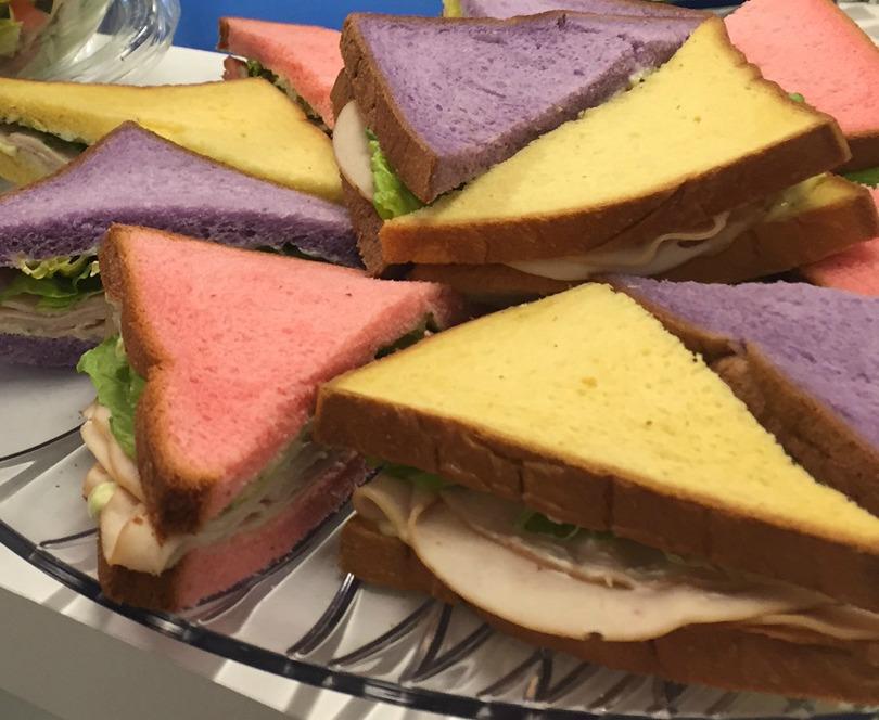 Colorful Sandwich Tray - www.stampedwithaloha.com