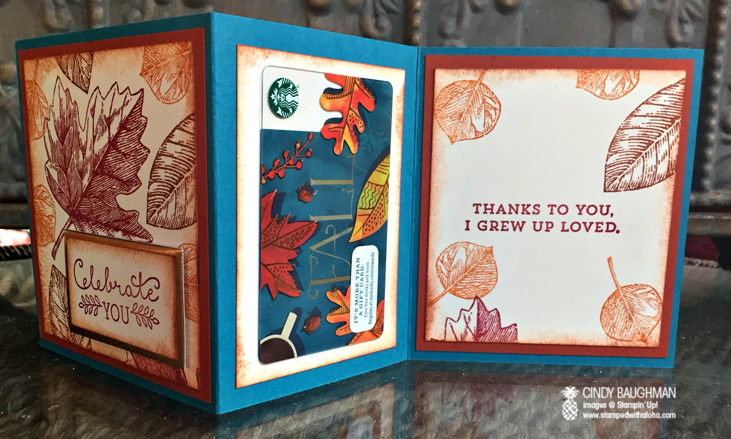 Vintage Leaves Card - www.stampedwithaloha.com