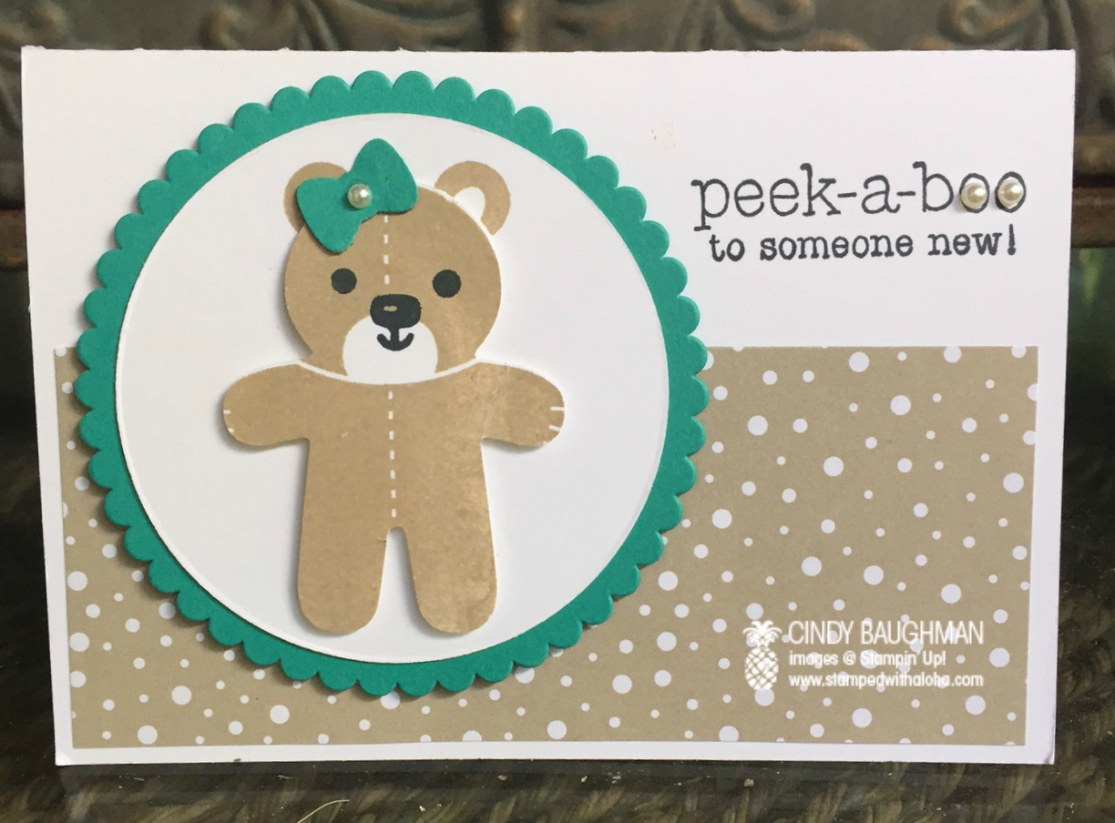 Cookie Cutter Christmas Baby Card - www.stampedwithaloha.com