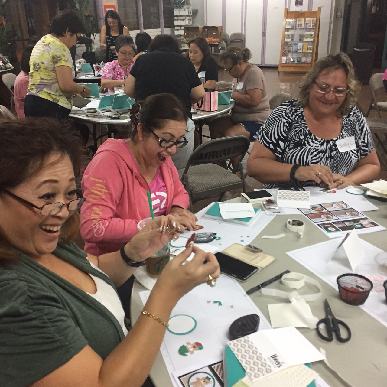 Stamping at Inspiration Night - www.stampedwithaloha.com
