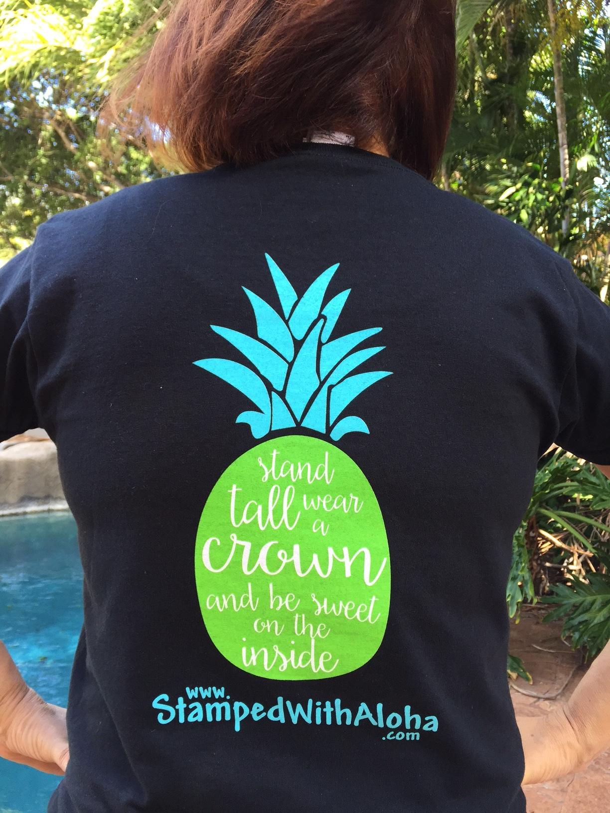 Be A Pineapple T-shirt (back) - www.stampedwithaloha.com