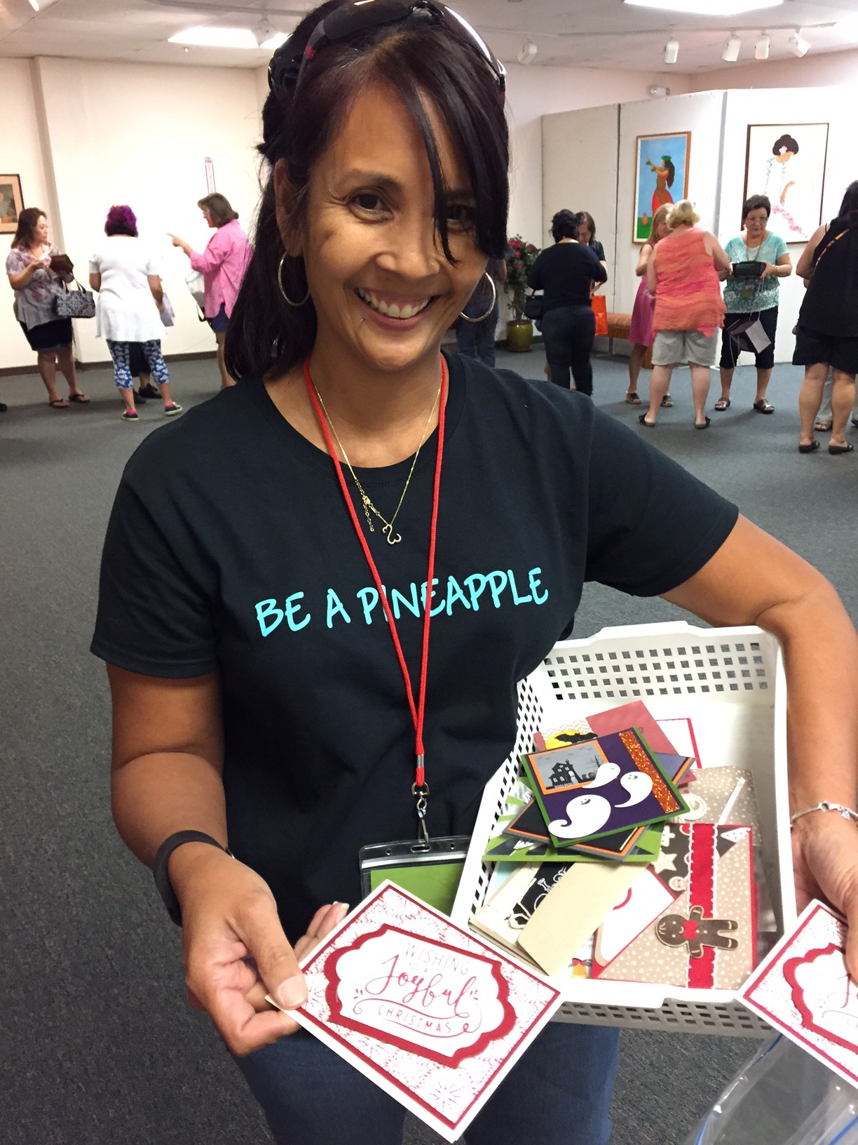 Berd swapping at our stamp camp - www.stampedwithaloha.com