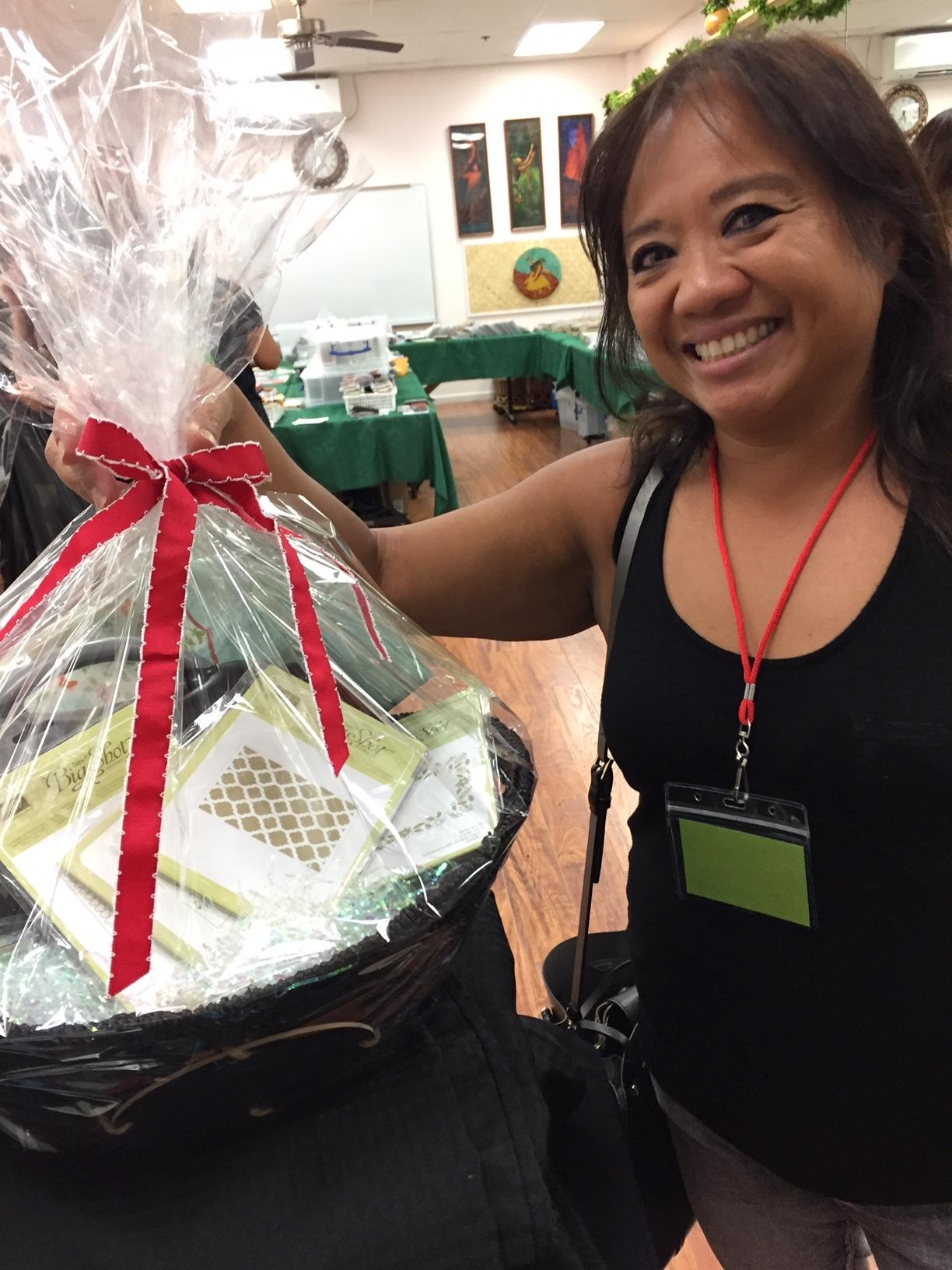 Shanda's prize basket - www.stampedwithaloha.com