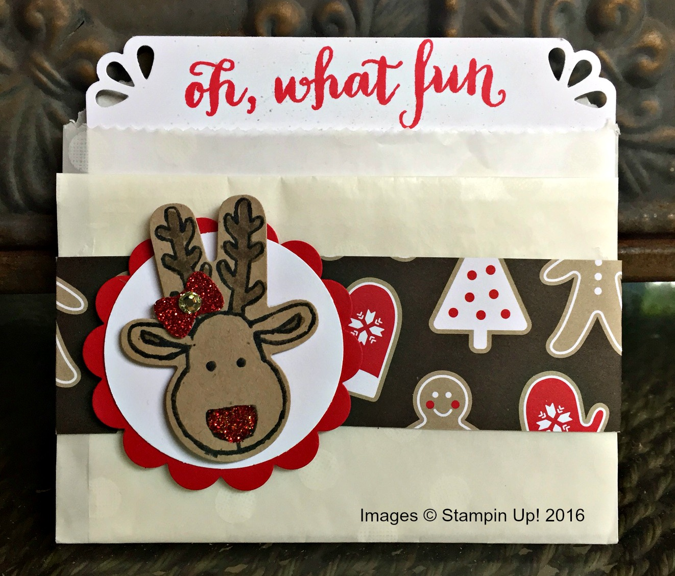Cookie Cutter Christmas Gift Card Holder - www.stampedwithaloha.com