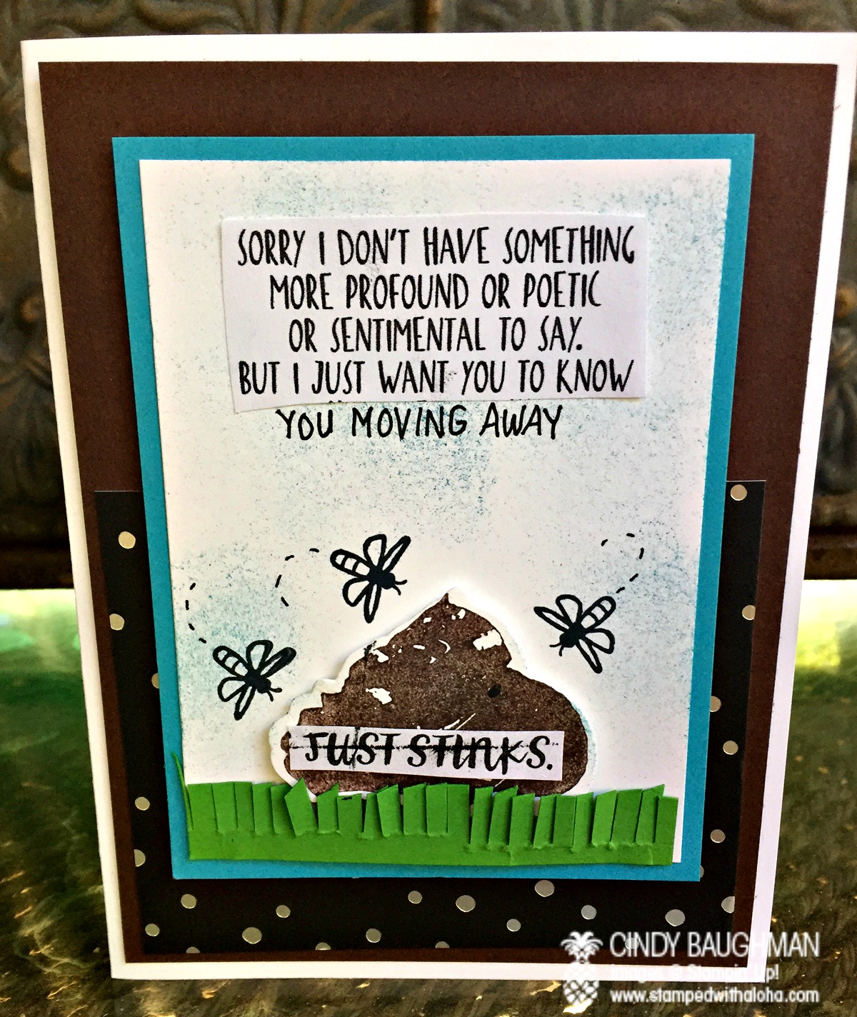 Kerry's This Just Stinks Card - www.stampedwithaloha.com