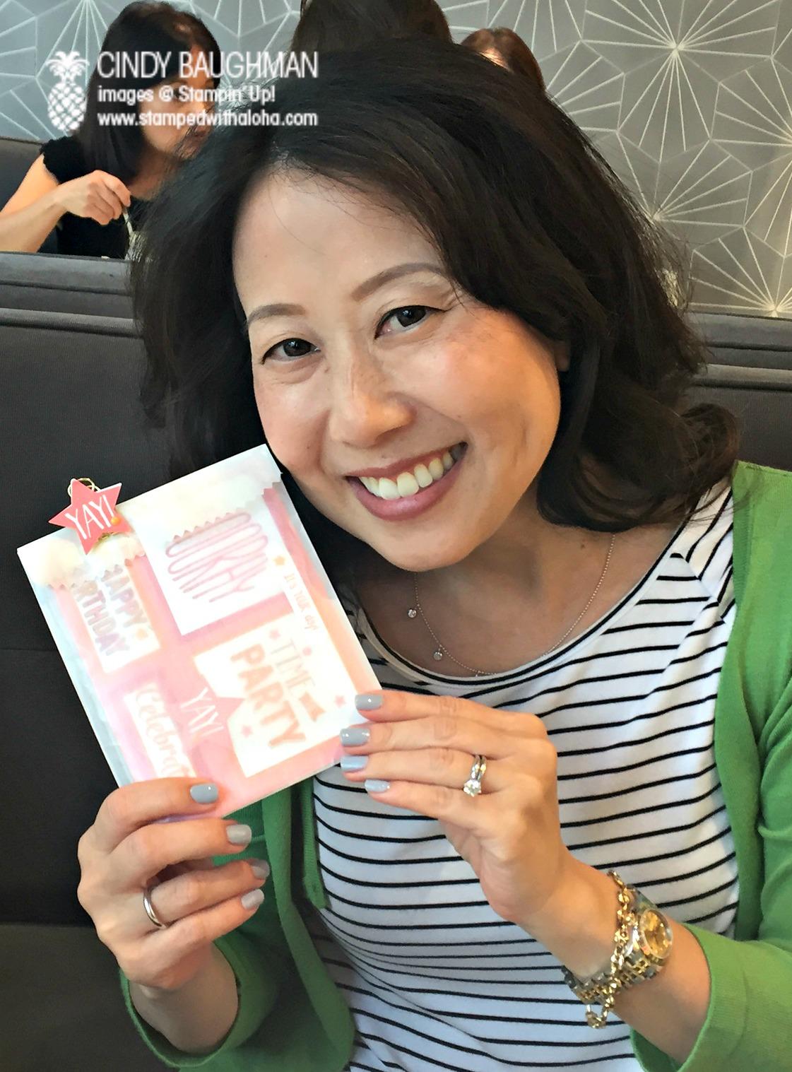 My friend Lynne - www.stampedwithaloha.com