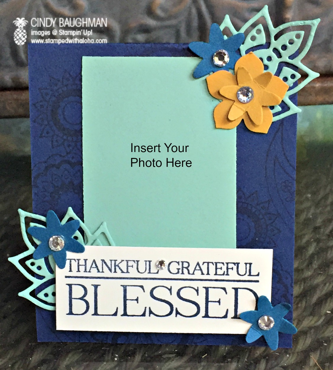 Thanksgiving Photo Place Cards - www.stampedwithaloha.com
