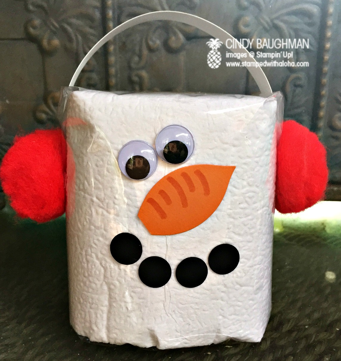 Toilet Paper Snowman - www.stampedwithaloha.com