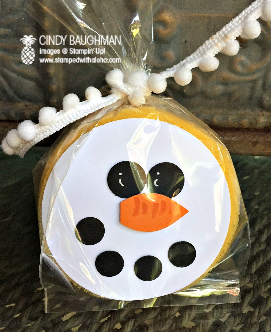 Stampin Up! Snowman Sponge - www.stampedwithaloha.com