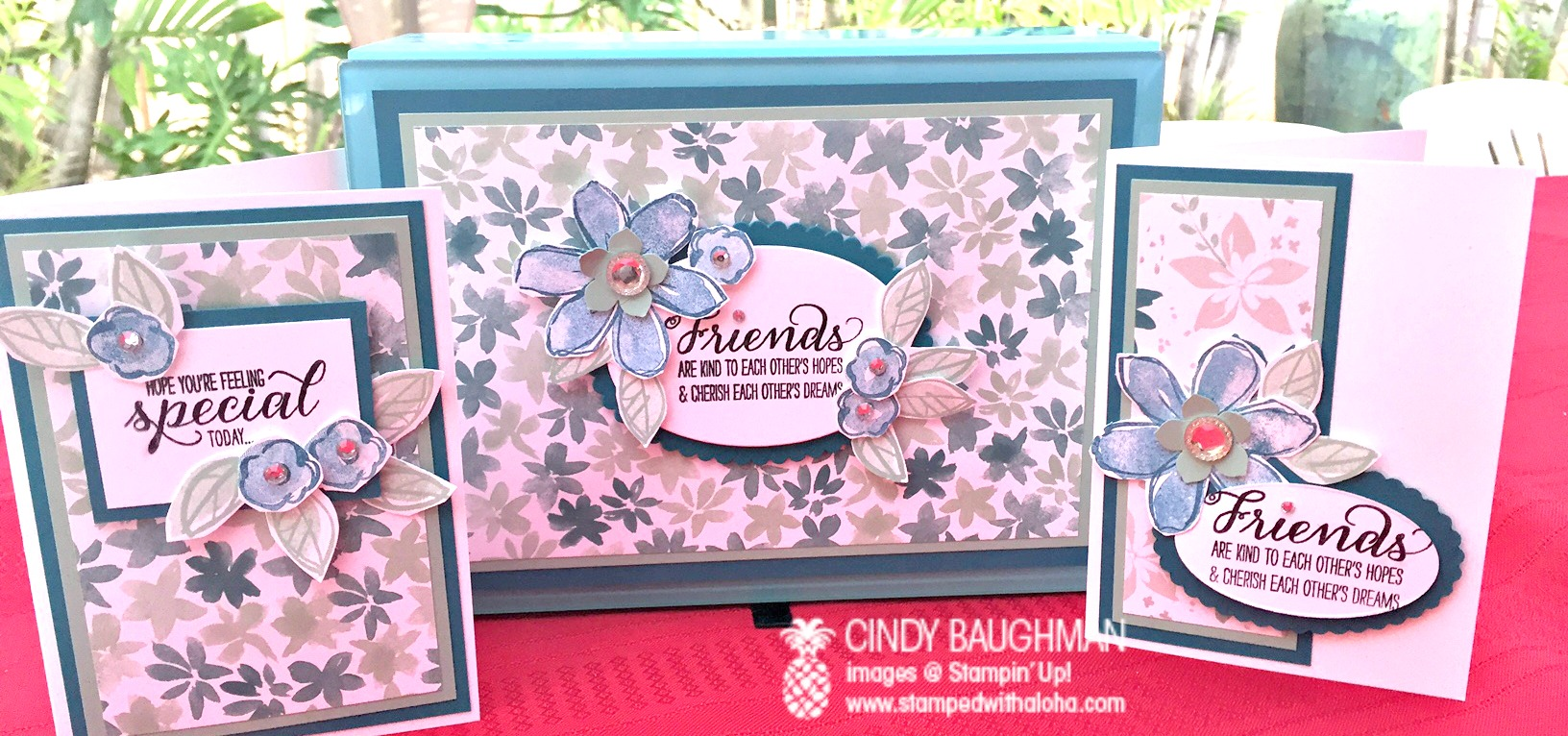Blooms and Bliss Card Box - www.stampedwithaloha.com