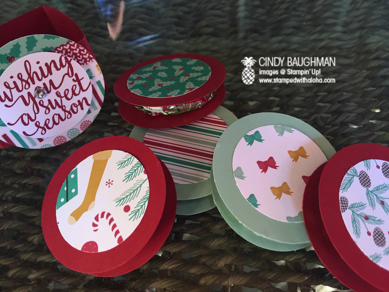 Presents and Pinecones Peppermints - www.stampedwithaloha.com