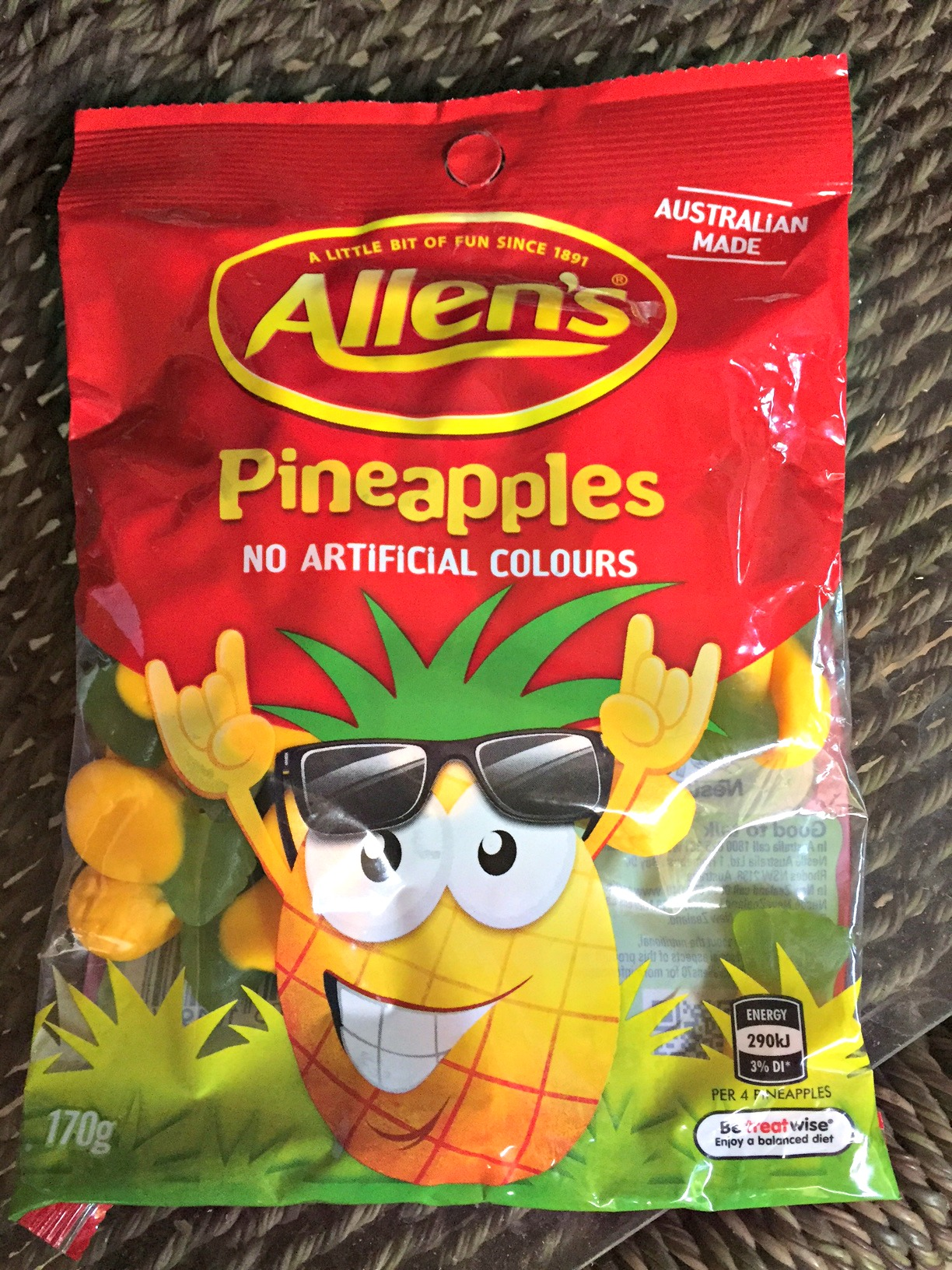 Pineapple candy from down under - www.stampedwithaloha.com