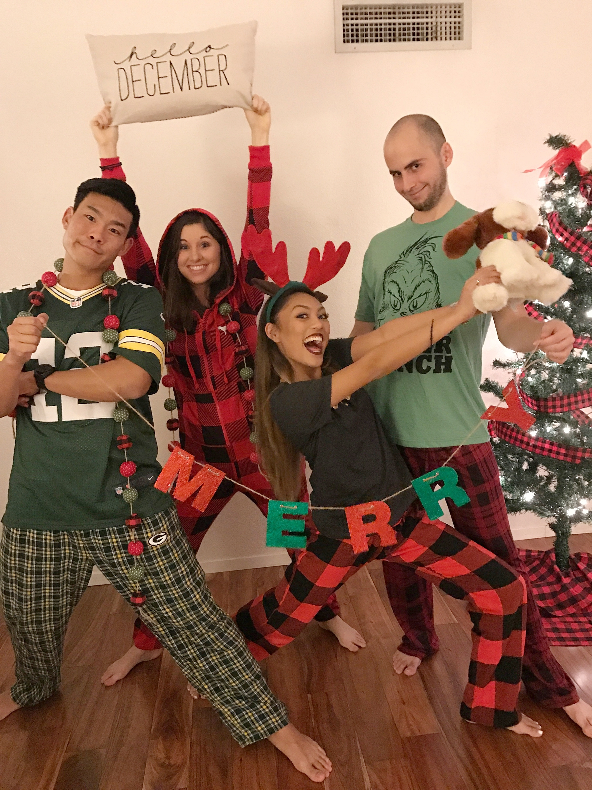 Plaid Pajama Party - www.stampedwithaloha.com