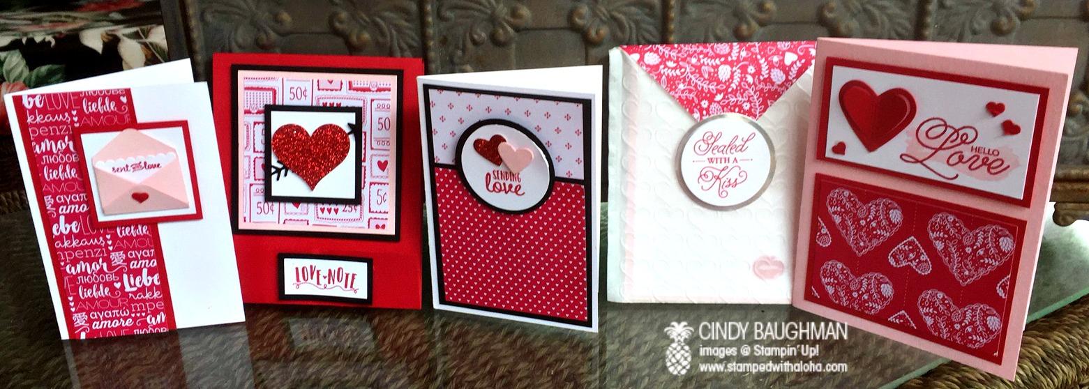 Sending Love Notes - www.stampedwithaloha.com