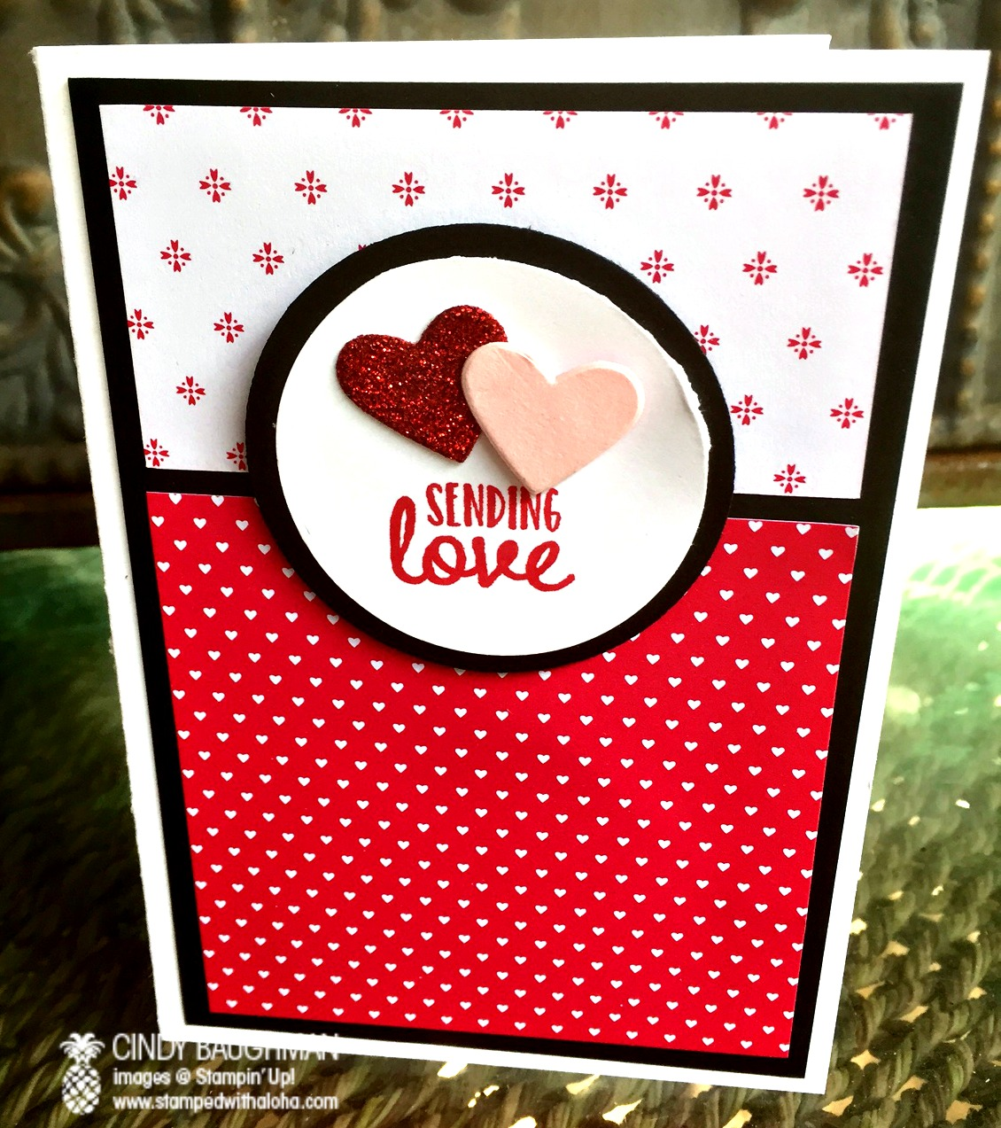 Sending Love Note Card - www.stampedwithaloha.com