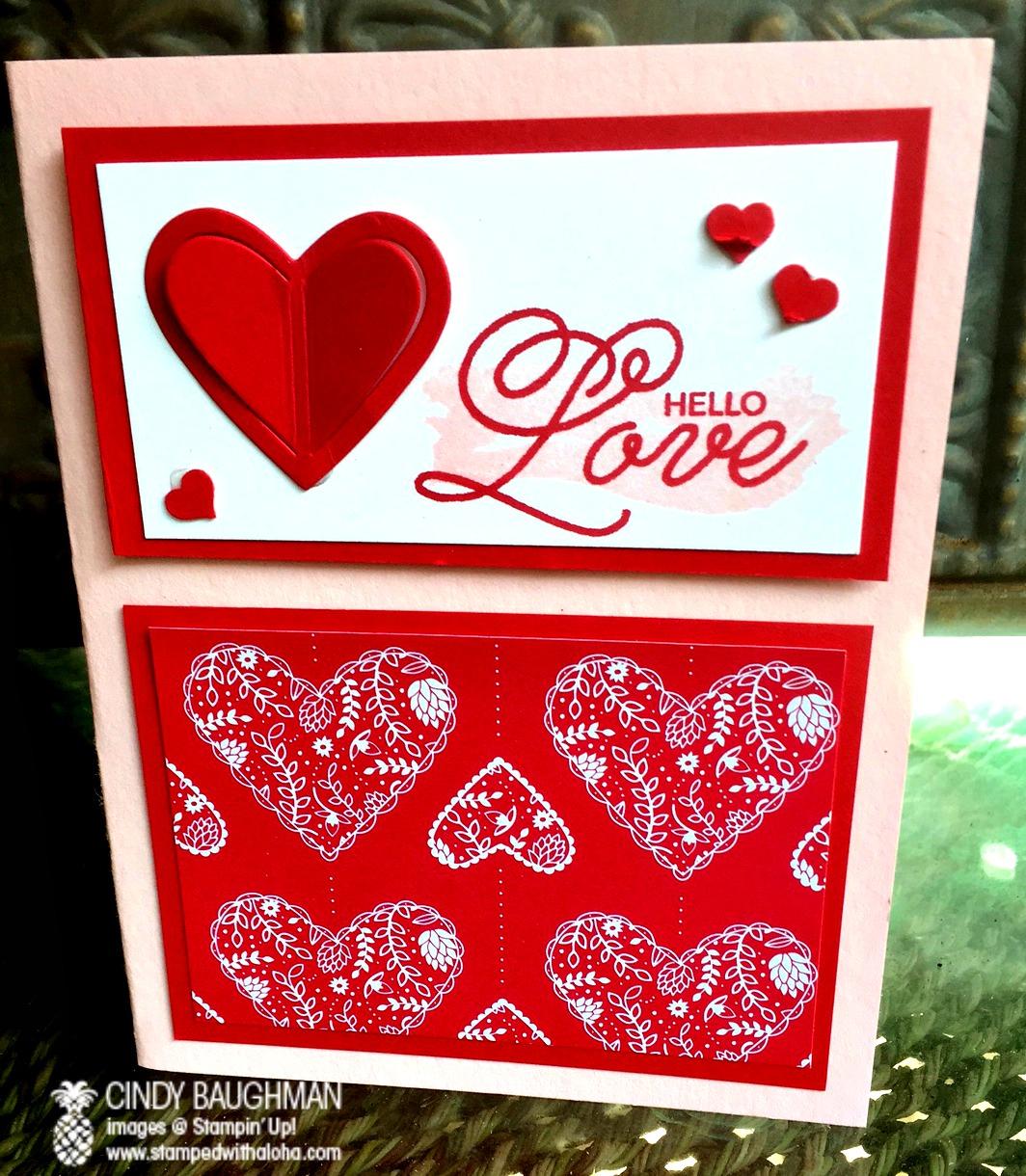 Hello Love Card - www.stampedwithaloha.com