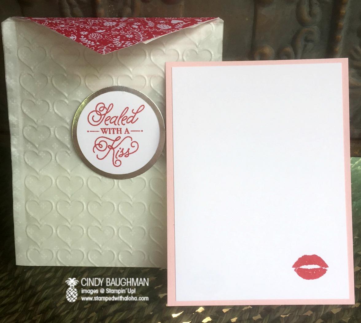 Sealed With A Kiss Pocket Card - www.stampedwithaloha.com