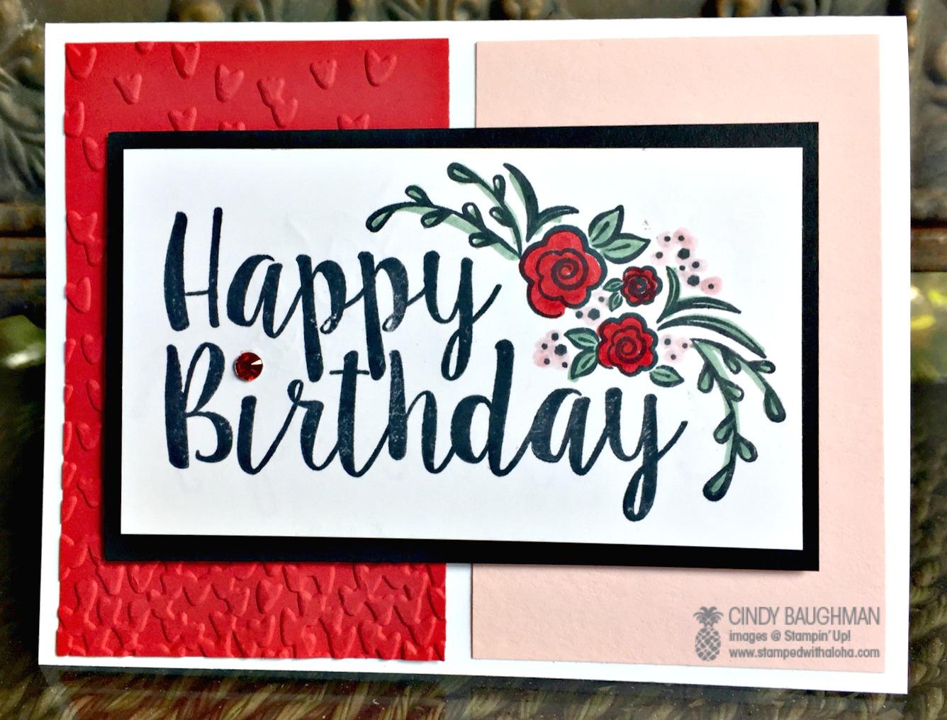 Big On Birthday's Card - www.stampedwithaloha.com