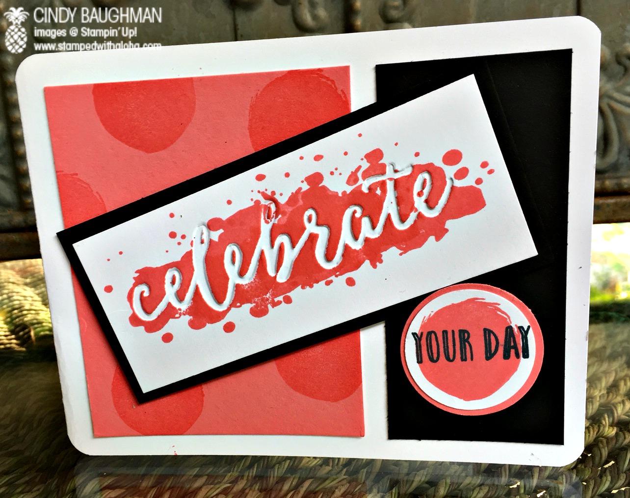 Happy Celebrations Card - www.stampedwithaloha.com