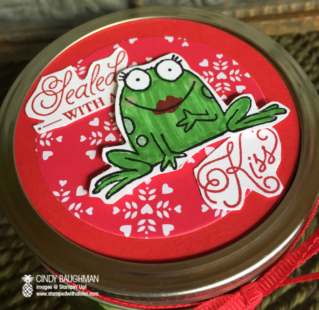 Sealed With a Kiss Gummy Frog Jar - www.stampedwithaloha.com