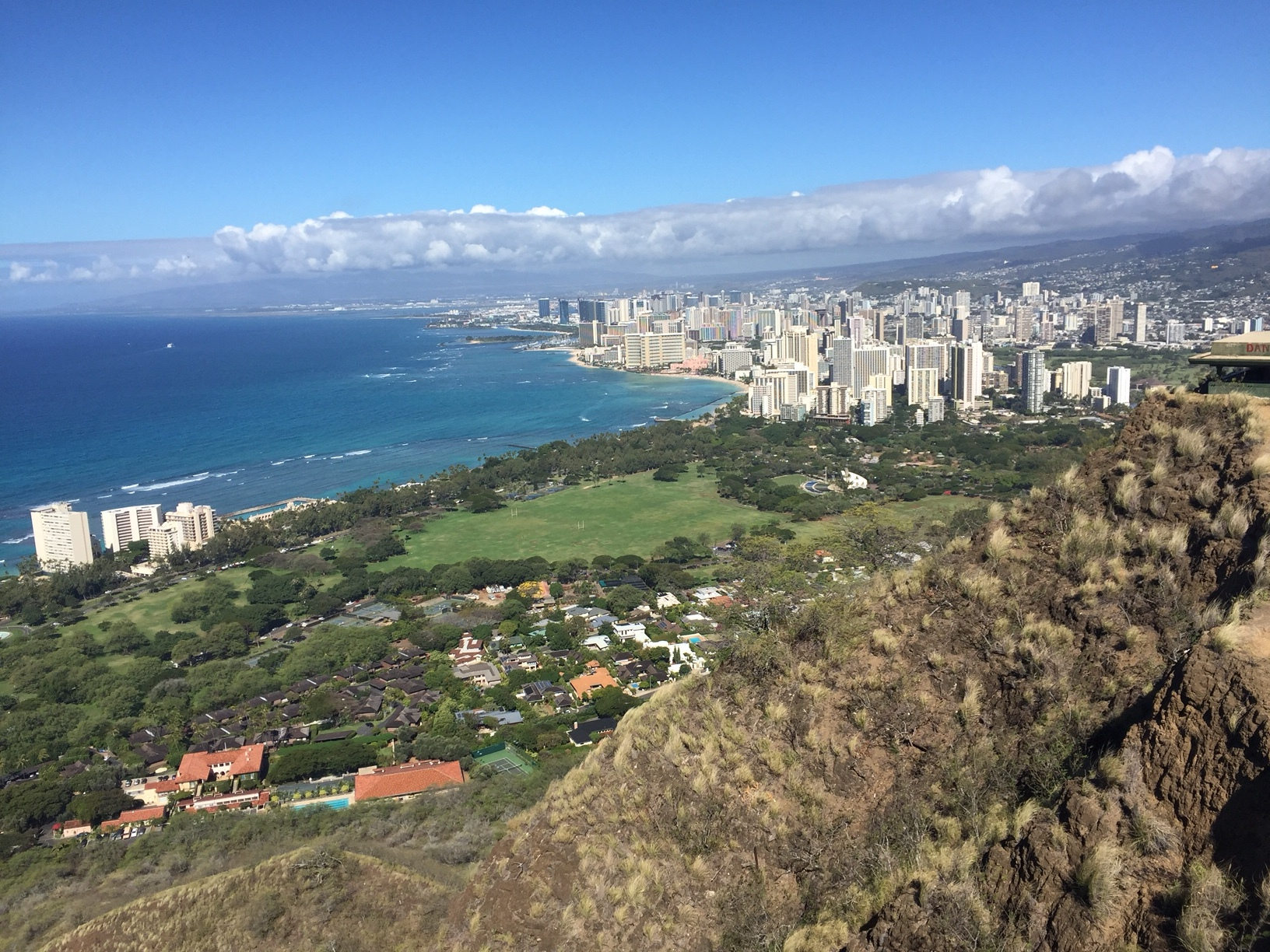 View from the top of Diamond Head - www.stampedwithaloha.com