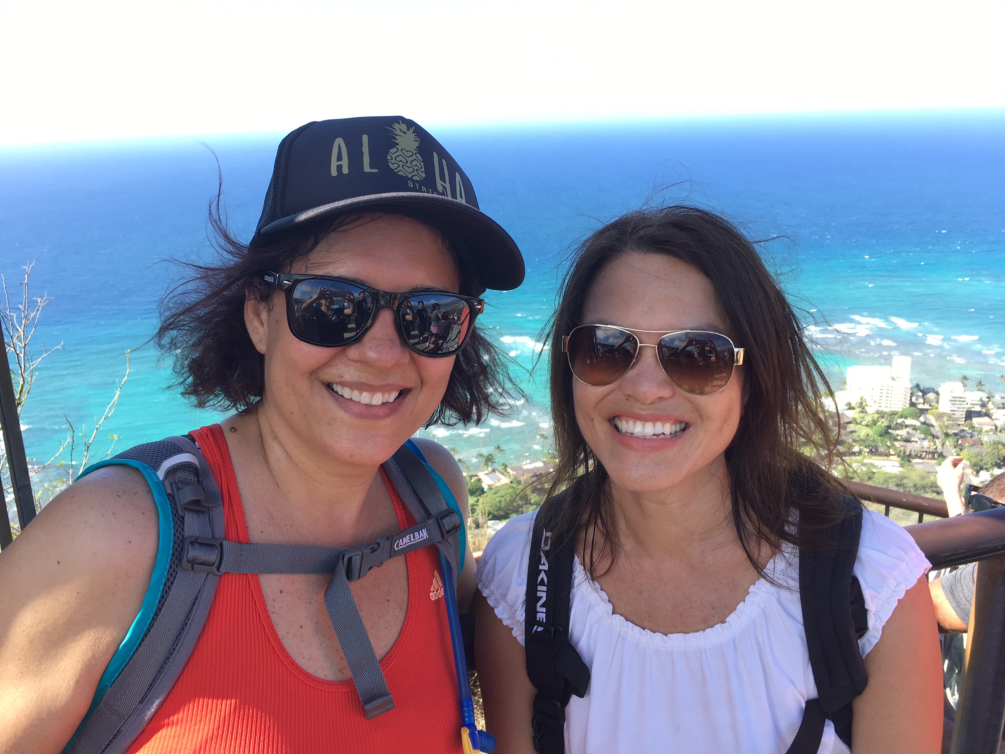 Top of Diamond Head with Karin - www.stampedwithaloha.com