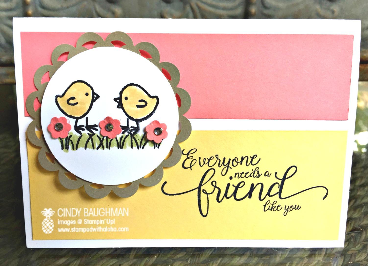 Basket Bunch Friendship Card - www.stampedwithaloha.com