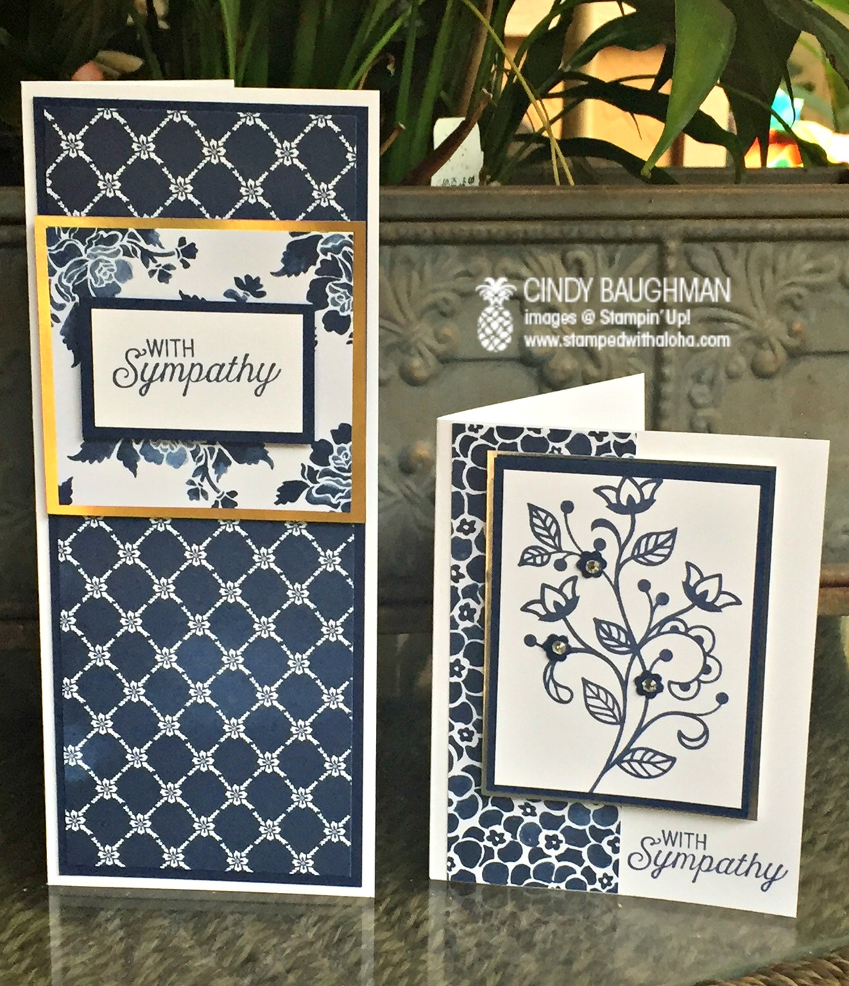 Floral Boutique Sympathy cards - www.stampedwithaloha.com
