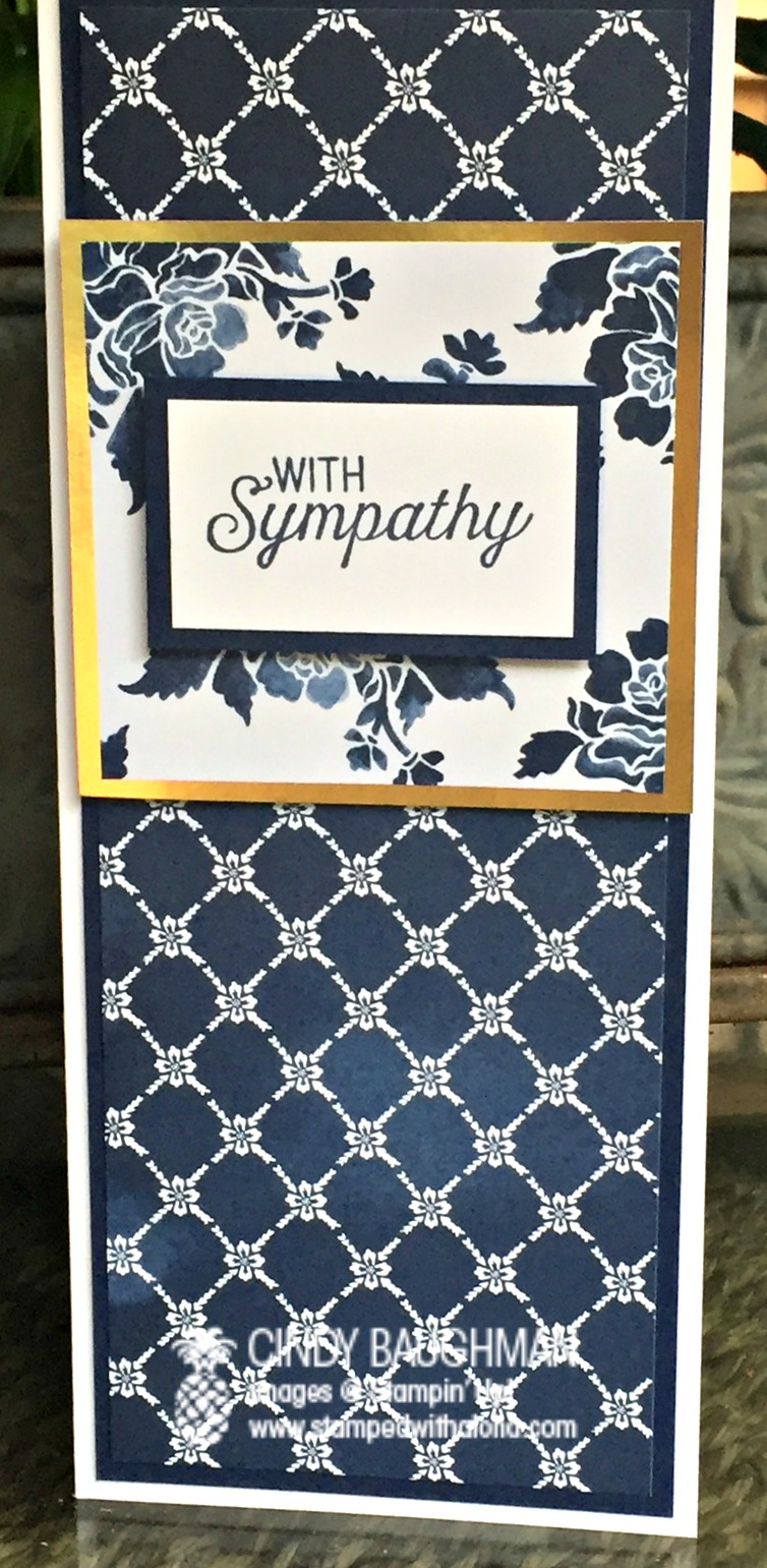 Floral Boutique Sympathy card - www.stampedwithaloha.com