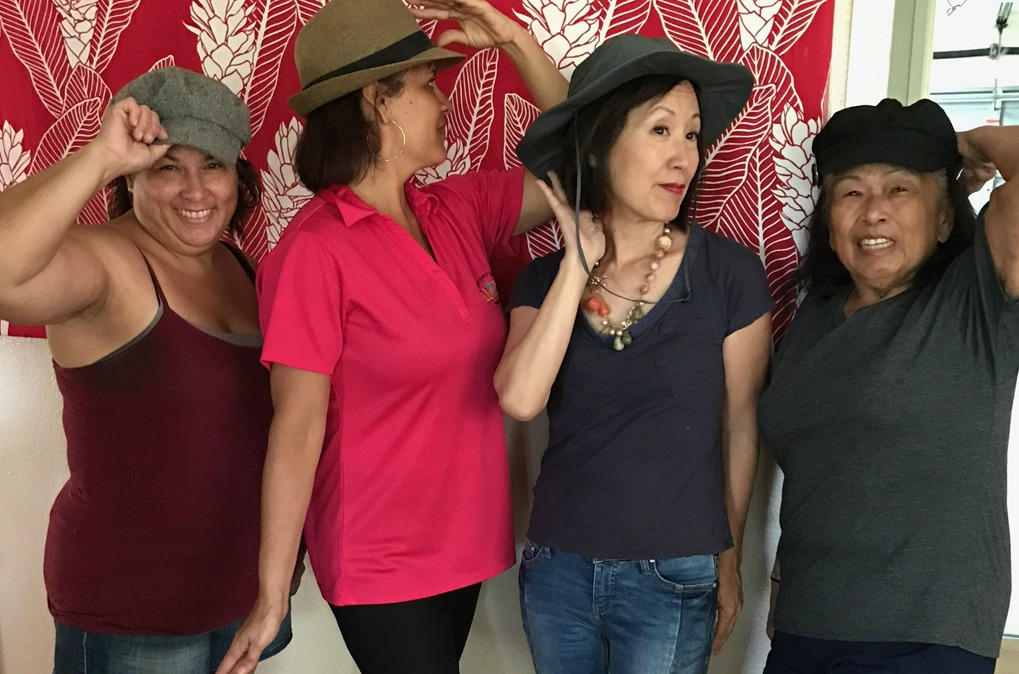 Hat's off to these crazy ladies - www.stampedwithaloha.com