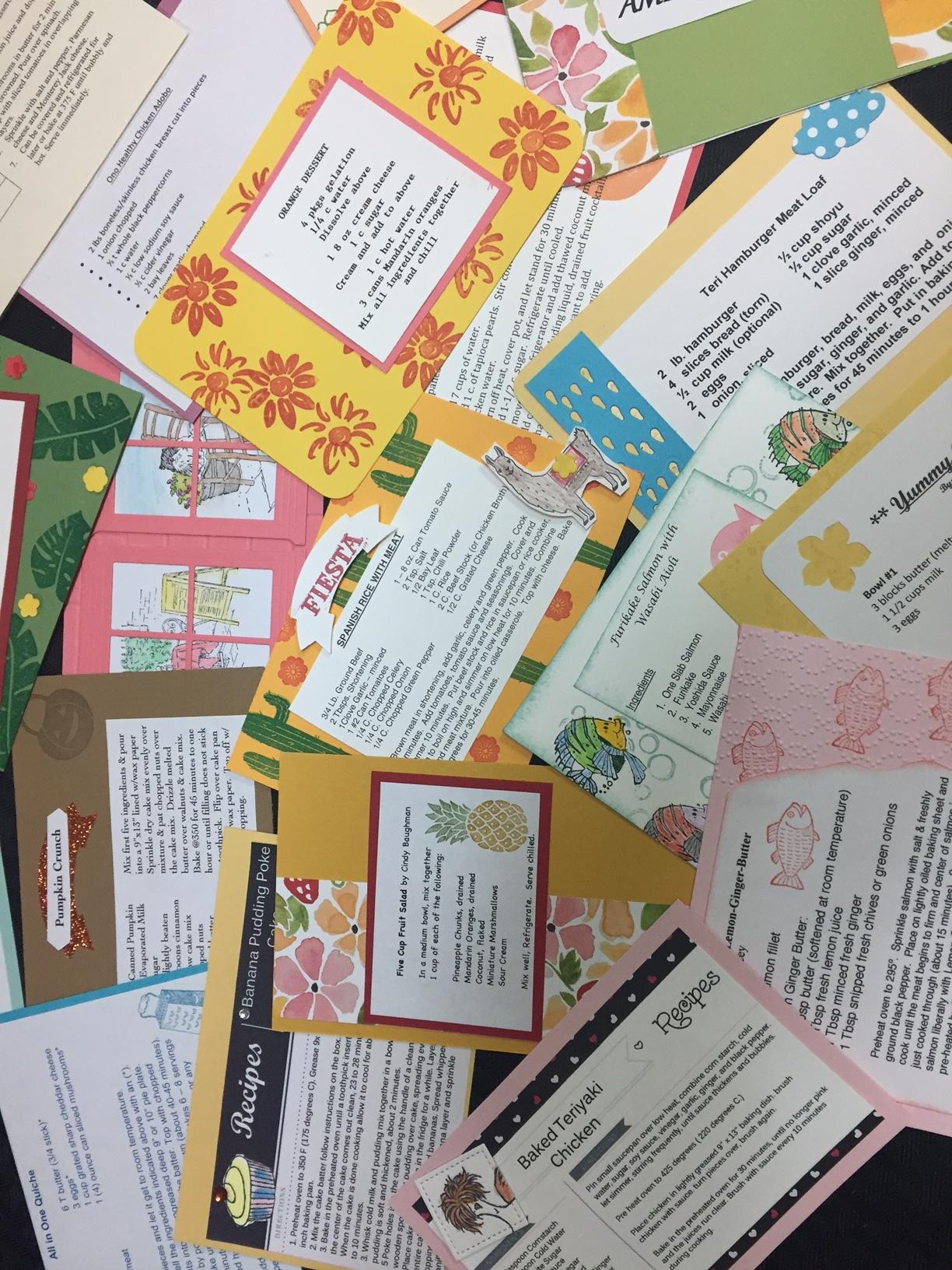 Recipe Card Swap - www.stampedwithaloha.com