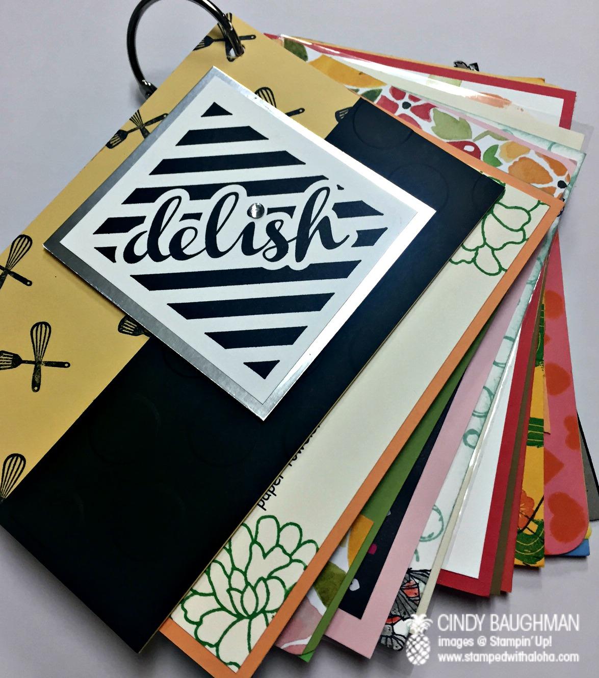 Perfect Mix - Recipe Book Swap - www.stampedwithaloha.com
