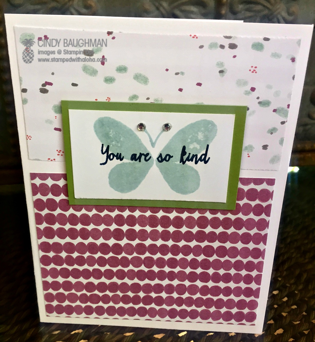Watercolor Wings Card - www.stampedwithaloha.com