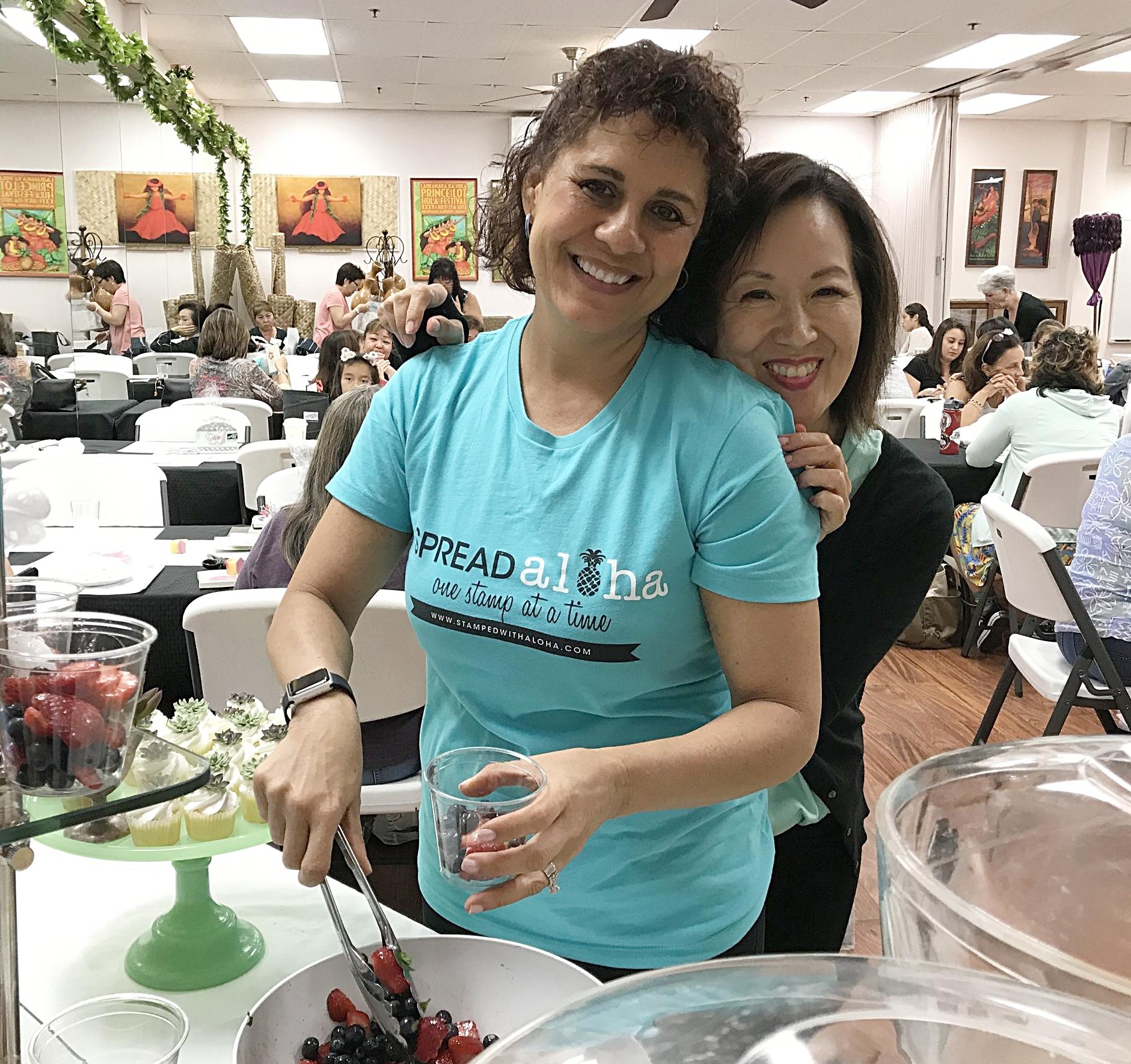Cindy and Pam - www.stampedwithaloha.com