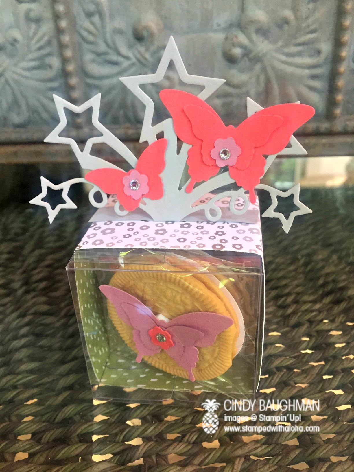 Butterfly Tiny Treat Box - www.stampedwithaloha.com