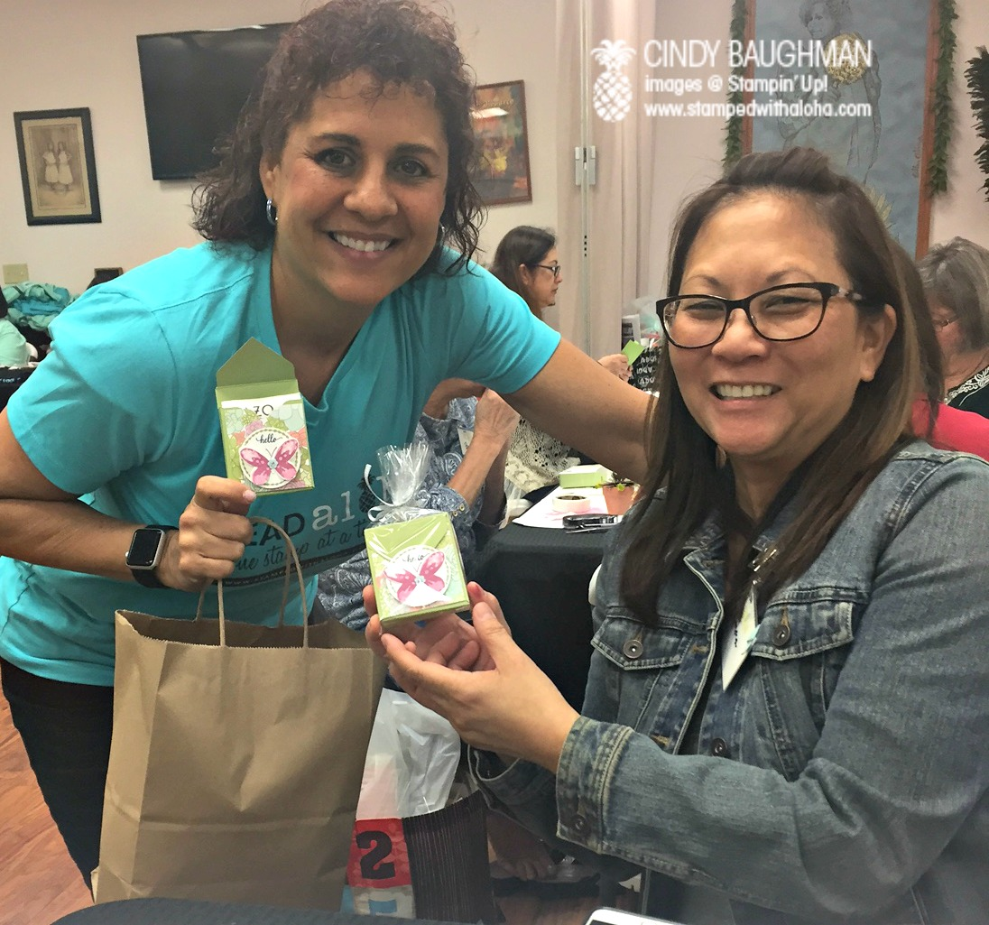 Cindy gives out her prize patrol - www.stampedwithaloha.com