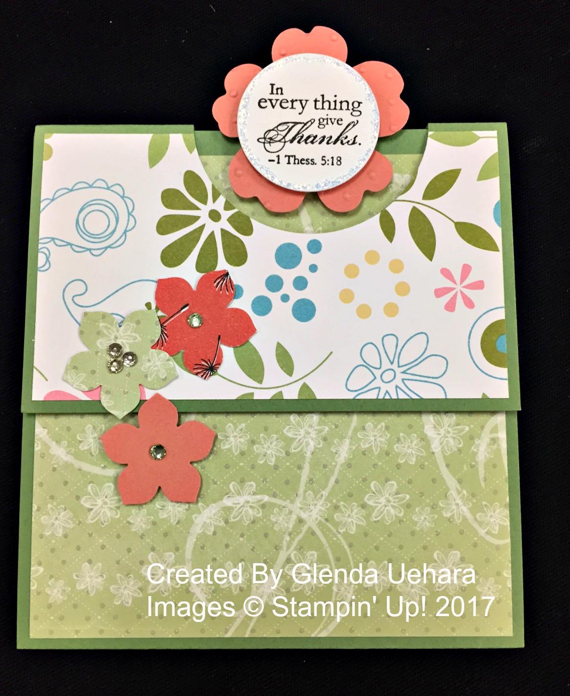 Glenda's Card - www.stampedwithaloha.com