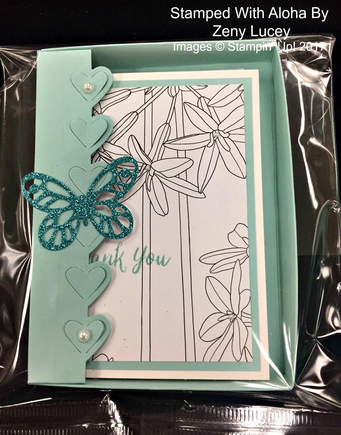 Zeny's Die Cut Box - www.stampedwithaloha.com