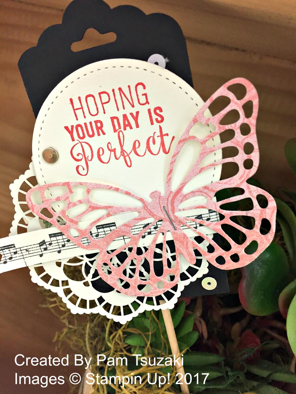 Pam's Perfect Day decor - www.stampedwithaloha.com