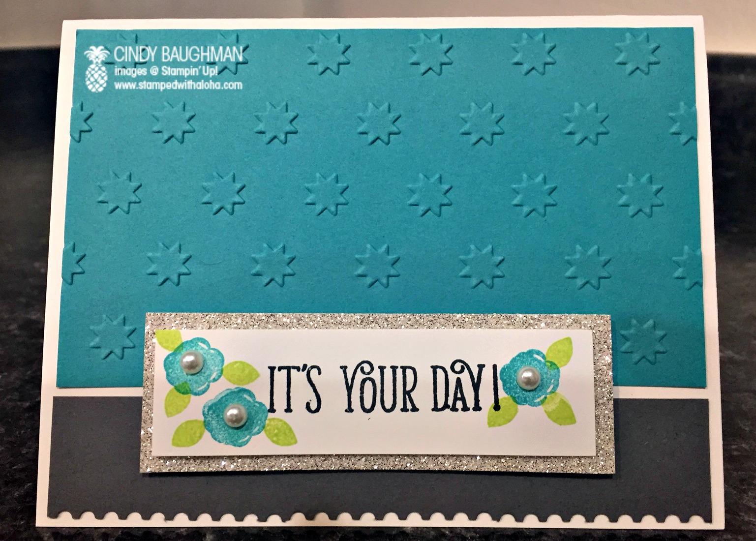 Happy Birthday Gorgeous Card - www.stampedwithaloha.com