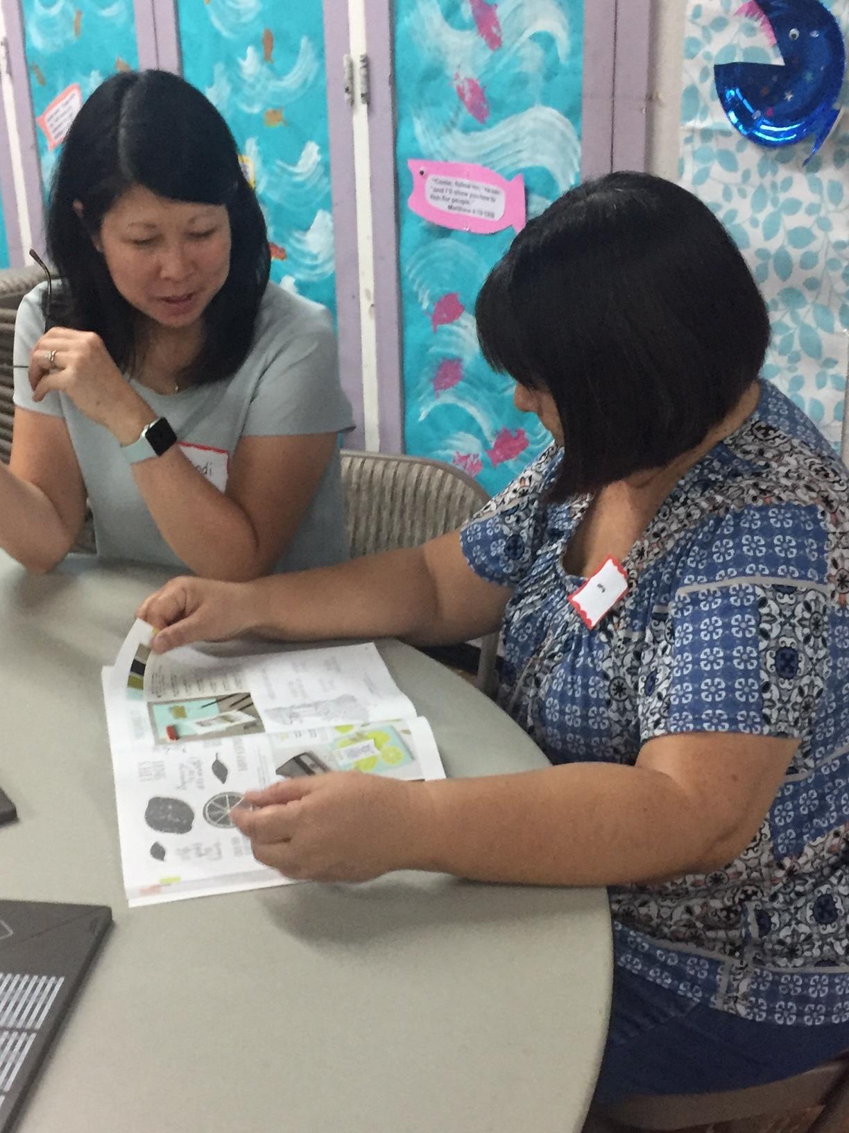 Jodi and Norine - www.stampedwithaloha.com
