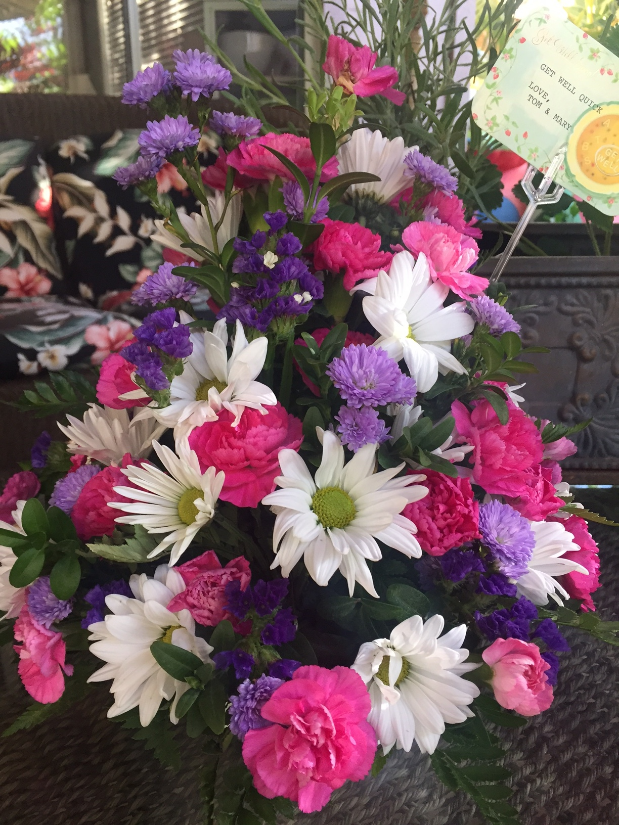 Get Well Flowers - www.stampedwithaloha.com