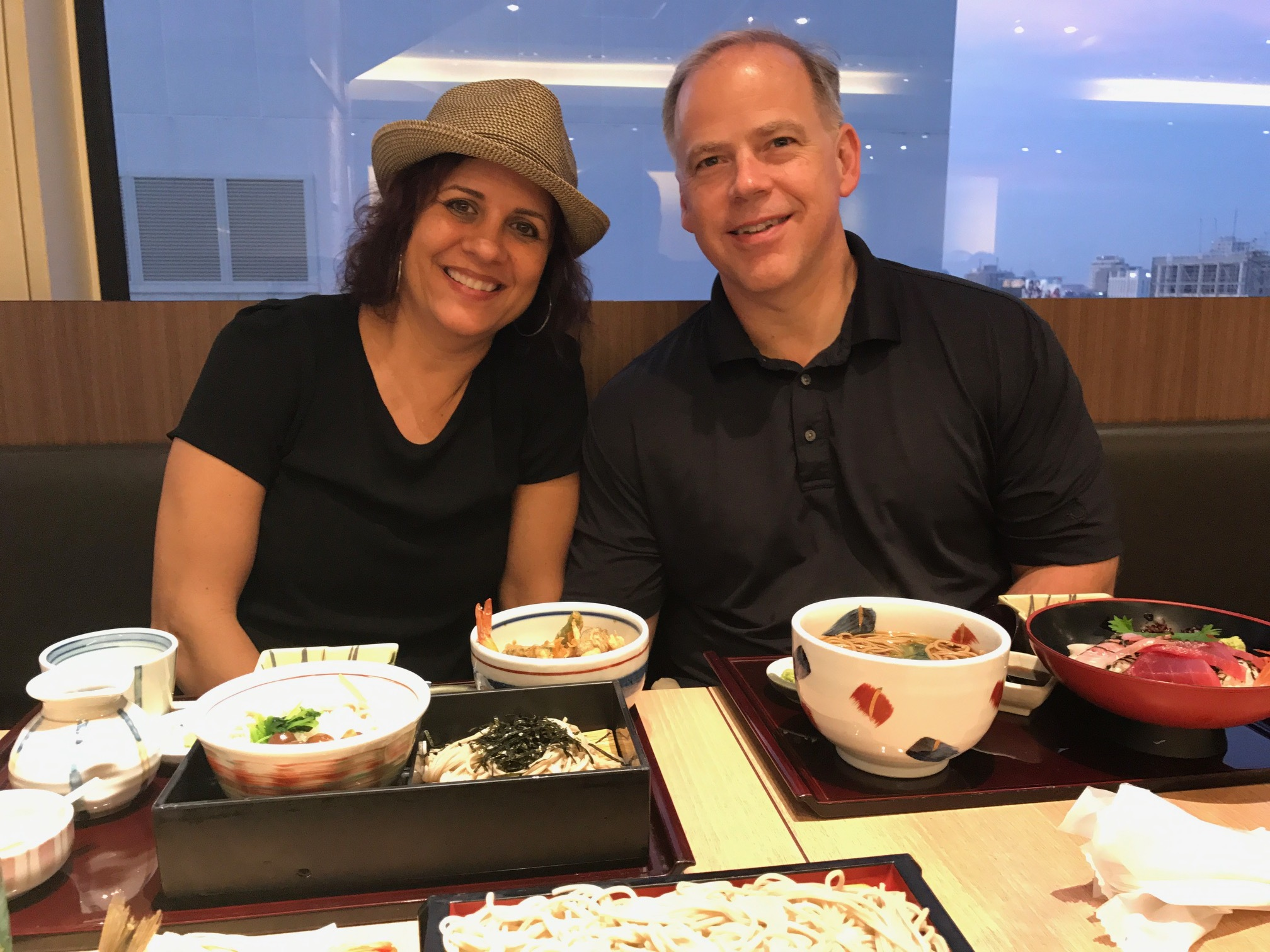 Our first dinner in Tokyo